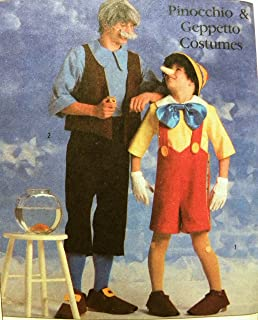 Simplicity 8334 Walt Disney Pinocchio & Geppetto Costumes Sewing Pattern
