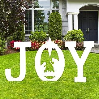 Christmas Joy Nativity Scene Yard Sign Decorations - Xmas Outdoor Lawn Decor (Assembly Needed)