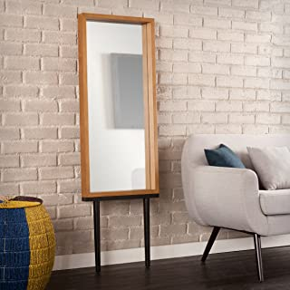 Southern Enterprises Holly & Martin Sawa Leaning Mirror - Weathered Gray, Oak
