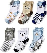 Jefferies Socks Boys' Toddler Non-Skid Puppy Dog Socks 6 Pair Pack