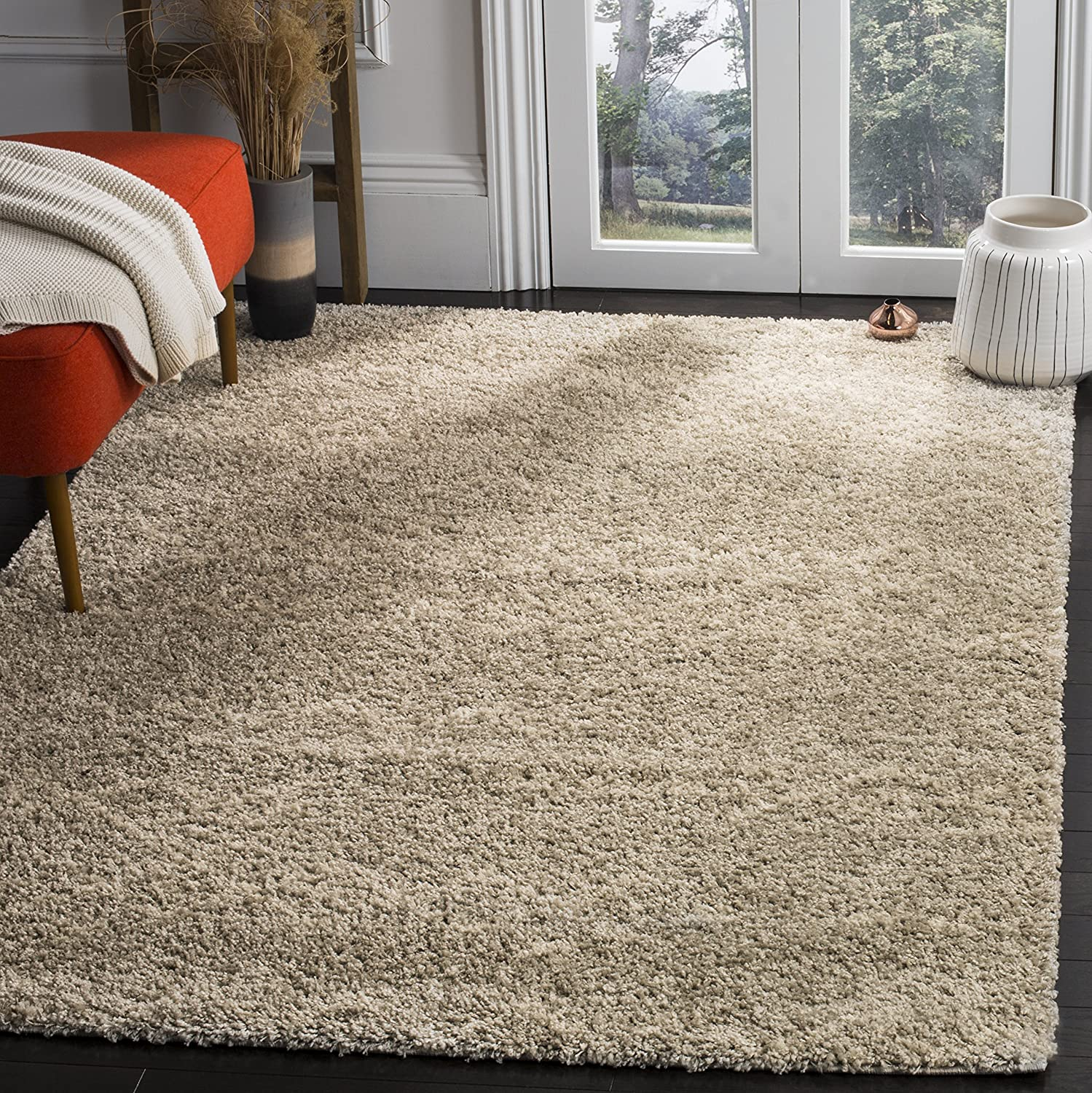 SAFAVIEH Arizona Shag Collection Japan's largest assortment Discount mail order ASG745D L Moroccan Non-Shedding