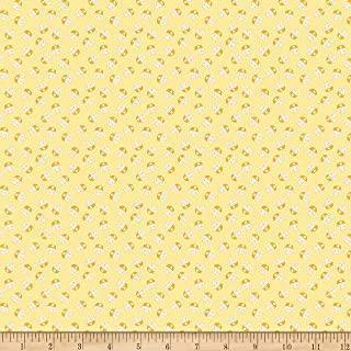 Christensen Wholesale Penny Rose Storytime 30s Kitties Yellow Fabric