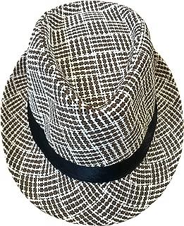 Sombreros De Fedora Hawaiana para Hombres Mujeres Sombrero Unisex De Fieltro Estilo Panamá Sombreros para Jazz, Luau, Vestuarios De Fiesta