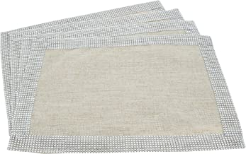 Fennco Styles Elegant Lily Collection Studded Design Table Placemat (14x20 Placemat-Set of 4)
