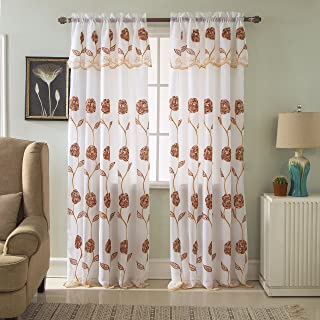 Best designer embroidered curtain fabric Reviews