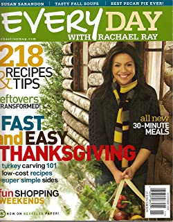 Every Day with Rachael Ray Magazine November 2007 Cooking