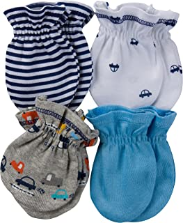 Baby Boys' 4-Pair Mittens