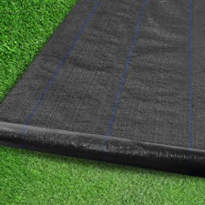 JAWEI Weed Barrier Garden Landscape Fabric,Heavy-Duty Weed Block Gardening Mat,Weed Contral for Outdoor Garden,Easy Install and Cut (3ft x 50ft)