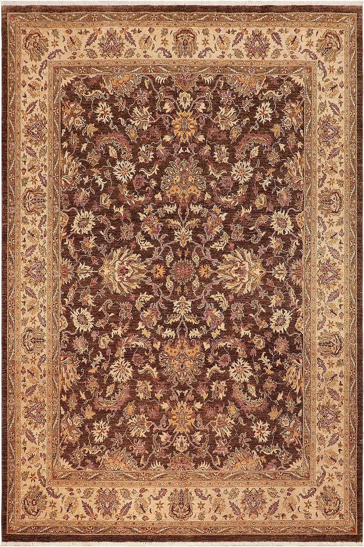 Super special price Max 90% OFF Eclectic Ziegler Patrina Brown Beige Wool Rug 9'8'' 8'2'' x -