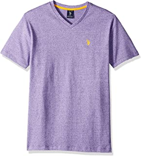 U.S. Polo Assn. Men's Short Sleeve V-Neck Solid T-Shirt
