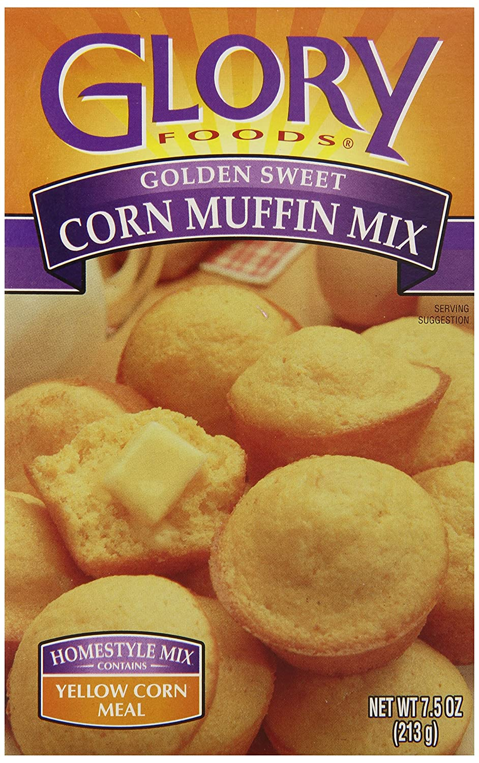 Glory Foods Golden Corn Muffin Mix Ounce Discount mail order 7.5 of Max 87% OFF Pack 24
