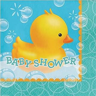 Rubber Duck Bubble Bath Baby Shower Napkins, 48 ct