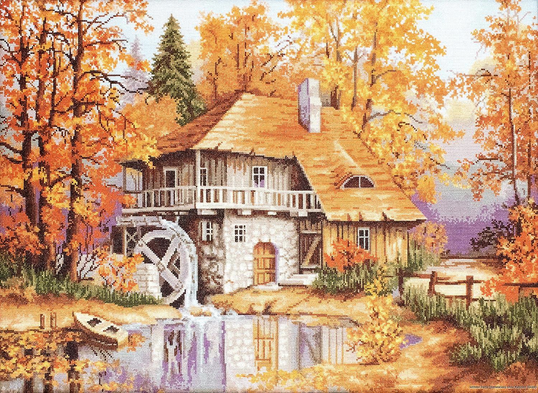 Under blast sales Lucas-S Autumn Landscape Popular Kit Counted Cross-Stitch