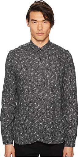 Printed Shirt with A Classic Collar