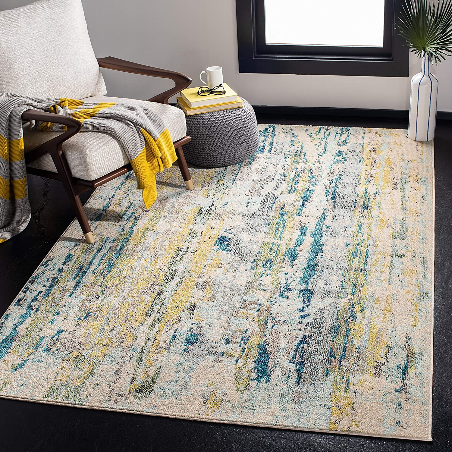 Safavieh Madison Collection MAD260B Non-Shedding Abstract New products world's highest Excellent quality popular Modern