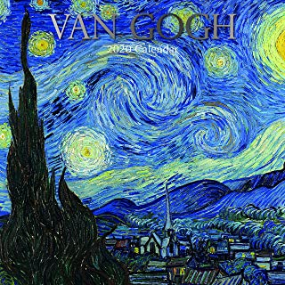2020 Wall Calendar - Van Gogh Calendar, 12 x 12 Inch Monthly View, 16-Month, Famous Artists and Artworks Theme, Includes 180 Reminder Stickers