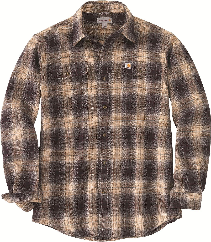 Carhartt Men's Max 84% OFF Original Fit Plaid Flannel Max 72% OFF Shirt Long-Sleeve