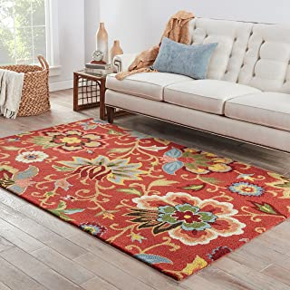 Jaipur Living Zamora Hand-Tufted Floral & Leaves Red Area Rug (5' X 8')