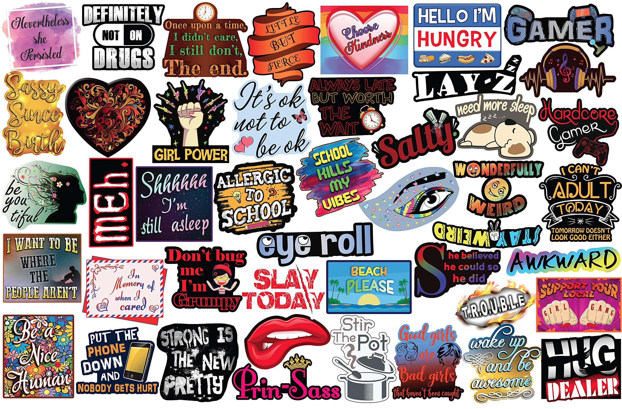 45 Pegatinas para Adolescentes. Supreme Sticker Pack of Trendy Teen Stickers. Pegatinas para Botella de Agua o computadora, Pegatinas de Vinilo 100 % Impermeables: Amazon.es: Juguetes y juegos