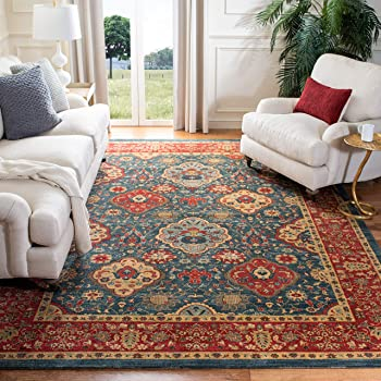 Safavieh Mahal Collection MAH655C Navy and Red Area Rug, 10' x 14'