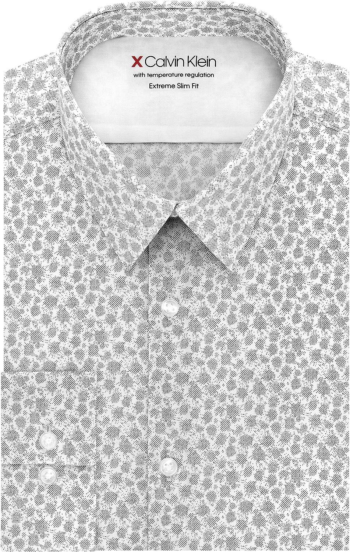 Calvin Klein Men's Dress Shirt Fit-Thermal Stretch Slim San Jose Mall P outlet Xtreme