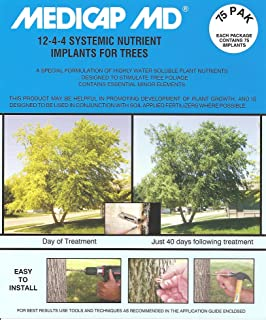 Medicap 75-Pack MD Systemic 12-4-4 Tree Food Implants, 3/8-Inch