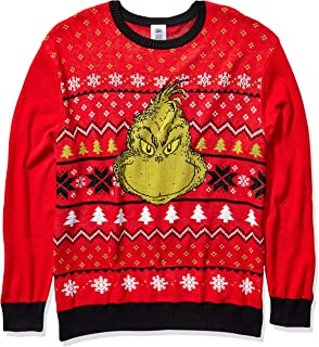 Dr. Seuss Men's Ugly Christmas Sweater