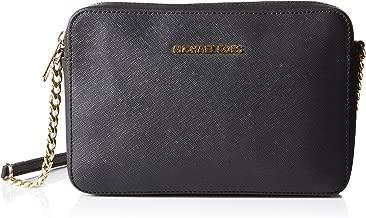 Details zu Michael Kors Damen Braun Grün Gold M Handtasche