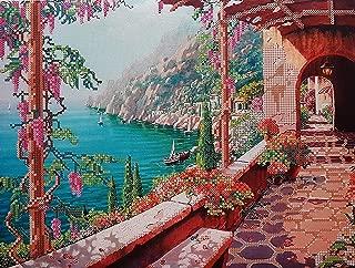 Bead Embroidery Kits, Seascape Beach Scene, Needlepoint kit, Sea Landscape, sea beadweaving Patterns, sea Beading Patterns, Embroidery Gift