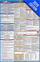 2019 California Labor Law Poster – State, Federal, OSHA Compliant – Single Laminated Poster