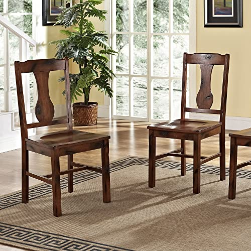 Solid Wood Dark Oak Dining Chairs, Set of 2 - Antique Oak Dining Chair: Amazon.com