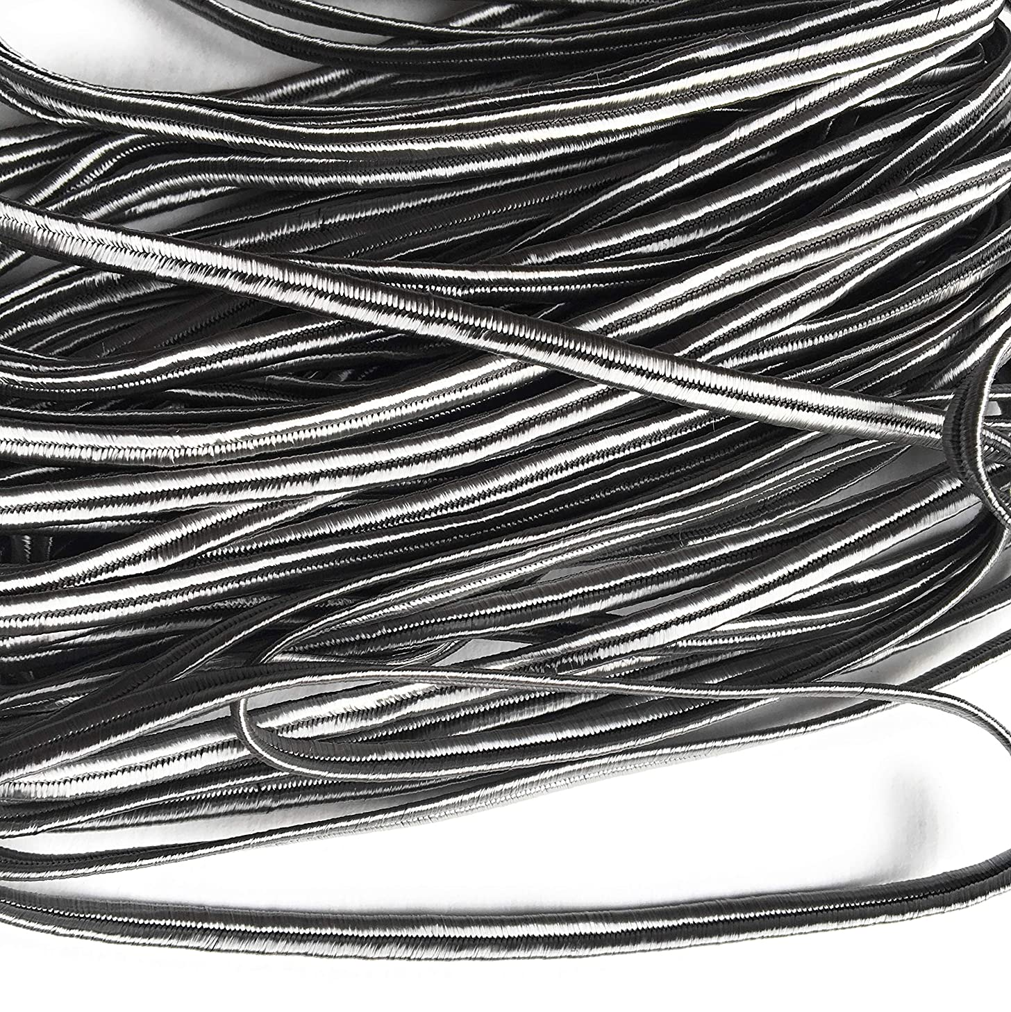 4mm Grey Soutache Rayon Braided Cord Beading, Sewing,Quilting Trimming String 10 Yards