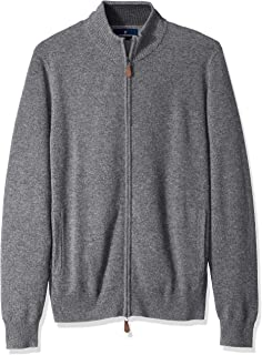 Amazon Brand - Buttoned Down Men's 100% Cashmere Full-Zip...