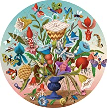 eeBoo Crazy Bug Bouquet Round Jigsaw Puzzle for Adults, 500 Pieces