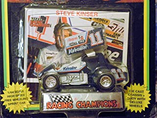 WORLD OF OUTLAWS Sprint Car Steve Kinser Series One 1:64 Scale die-cast Racer by Racing Champions