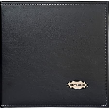 Zoview Art Photo Album Holds 3X5 5X7 Hand Made DIY Albums 6X8 Leather Cover Black, Large 8X10 Photos 4X6 Magnetic Self-Stick Page