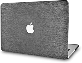 LuvCase Leather Hard Shell Cover Compatible Newest MacBook Pro 13