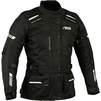 Damen Textil Motorradjacke Schwarz BOSmoto Jacke, XS