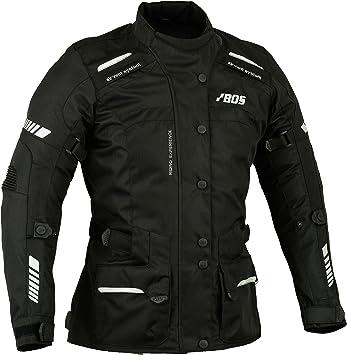 Motorradjacke Kurz Damen Motorrad Jacke Cordura Textil Roller Quad Biker Touring Touren Schwarz Xs Bekleidung