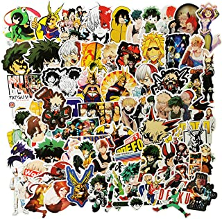 My Hero Academic Waterproof Stickers/Decals (73 pcs) of Japanese Anime Cartoon for Laptop Skateboard Snowboard Water Bottle Phone Car Bicycle Luggage Guitar Computer PS4 (My Hero)