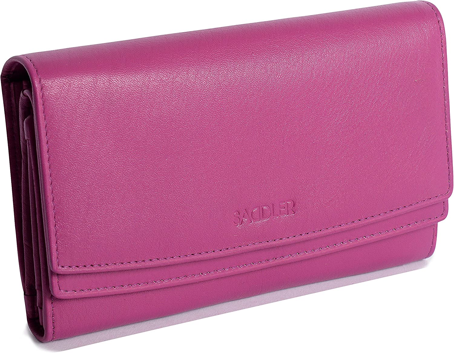 Ladies Designer High Capacity Credit Card Holder with Coin Purses Gift Boxed SADDLER Womens Luxurious Real Leather Large Multi Section Purse Wallet Clutch