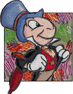 Disney Jiminy Cricket Counted Cross Stitch Pattern