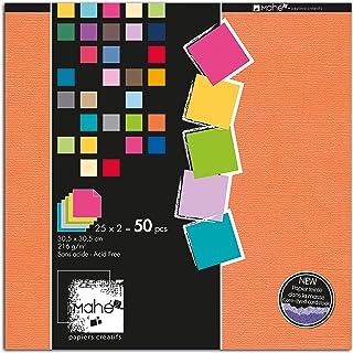 Toga PBE08 Bloc de 50 Feuilles Papier Multicolore 30,5 x 30,5 x 1 cm