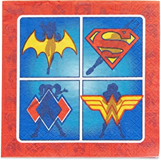 American Greetings DC Super Hero Girls Party Supplies, Paper Napkins (16-Count)