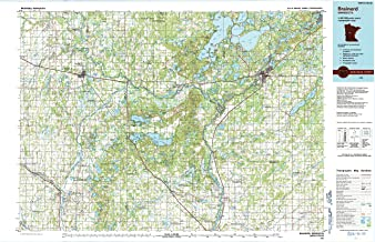 YellowMaps Brainerd MN topo map, 1:100000 Scale, 30 X 60 Minute, Historical, 1986, Updated 1991, 27.23 x 21.53 in