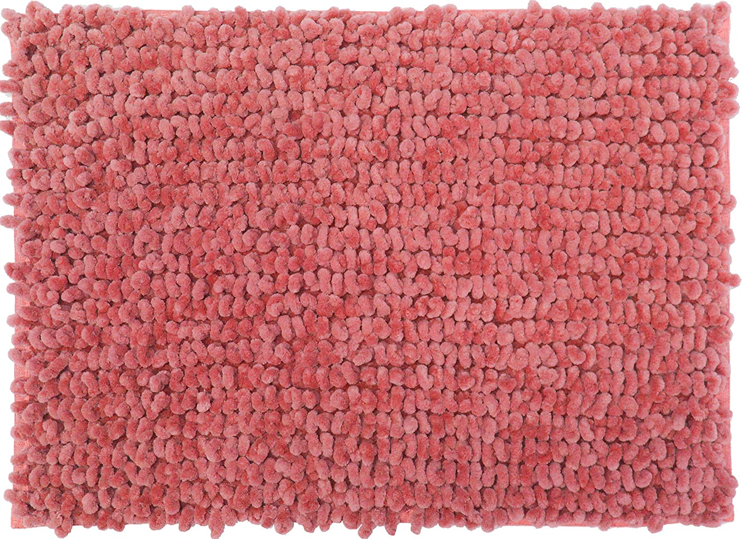 Casale Home 847431000342 New Cut & Large Loop Microfiber Chenille Area Rug, 4x6', Coral