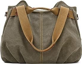Z-joyee Women's Ladies Casual Vintage Hobo Canvas Daily Purse Top Handle Shoulder Tote Shopper Handbag