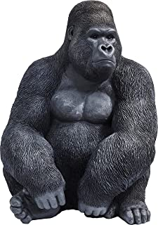 Kare Design Decoration Figurine Gorilla Side XL, Black, 76 x 60 x 55 cm