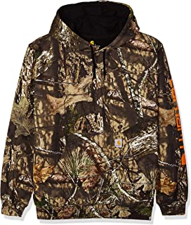 Men's Midweight Camo Sleeve Logo Hooded Sweatshirt...