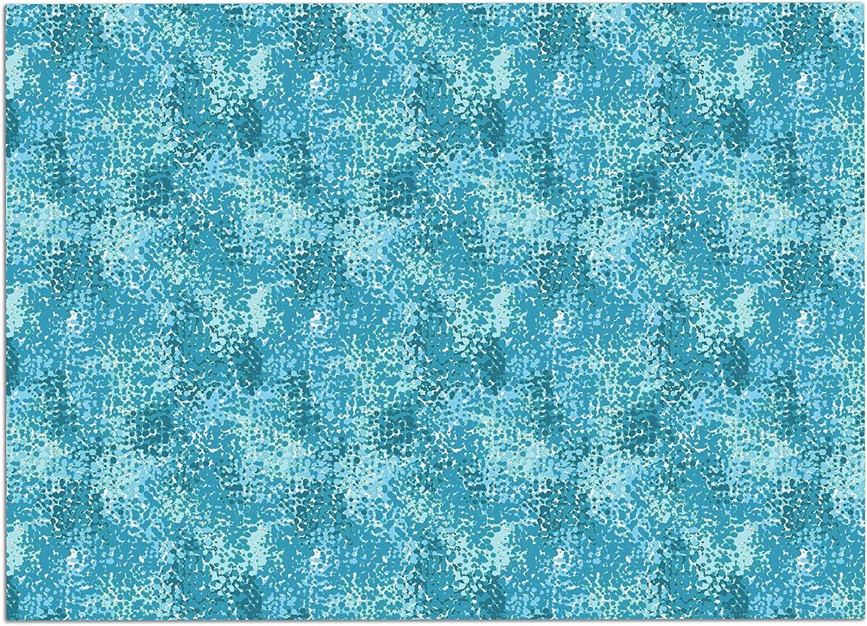 KESS InHouse CG1020ADM02 Carolyn Greifeld Painterly bluees White Abstract Dog Place Mat, 24 x15